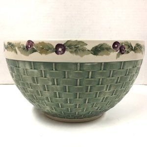 Pfaltzgraff Jam Berry Basket Weave Mixing Bowl